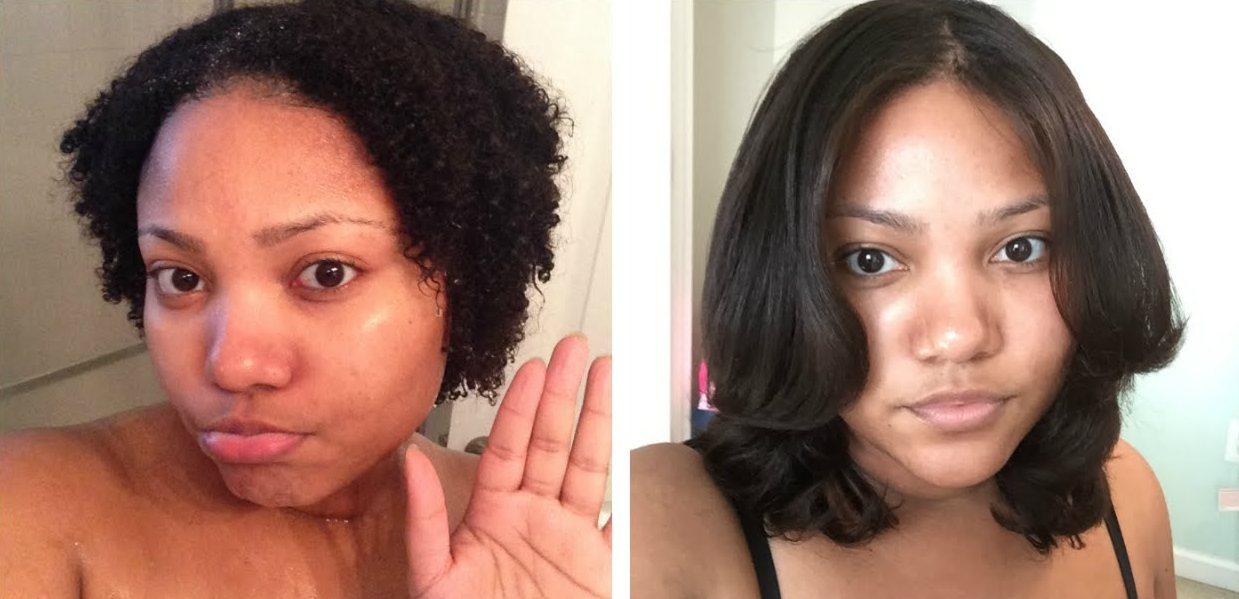 results of using relaxer for black hair