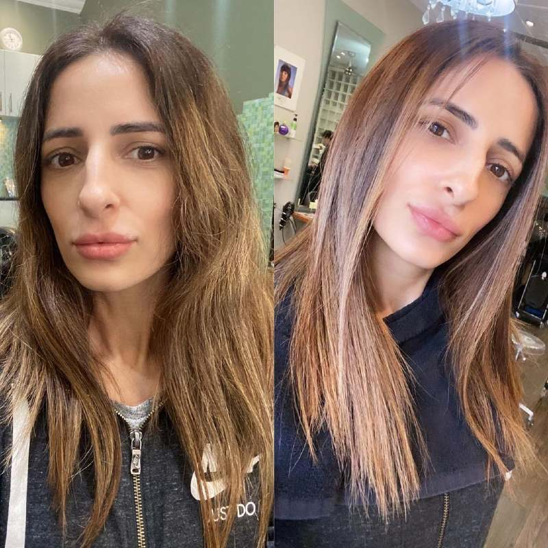 Shiseido hair straightening before and after