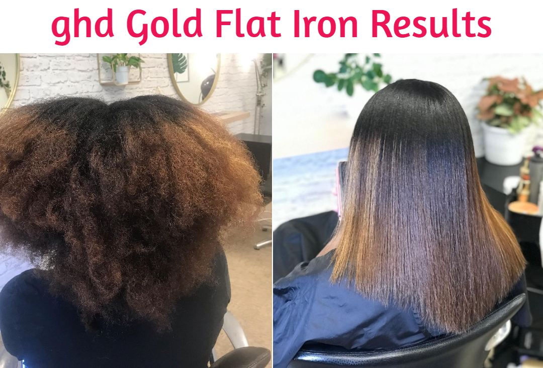 ghd flat iron before and after
