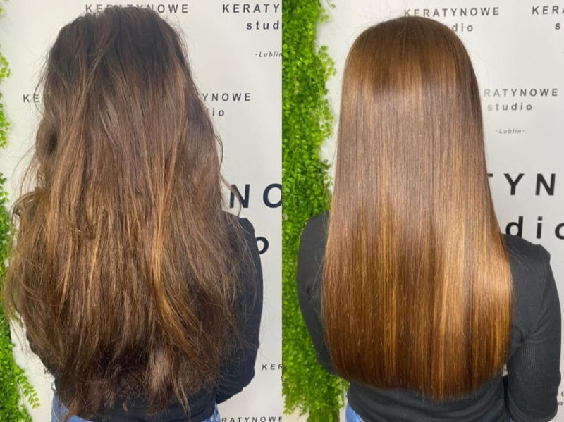 hair botox results before and after