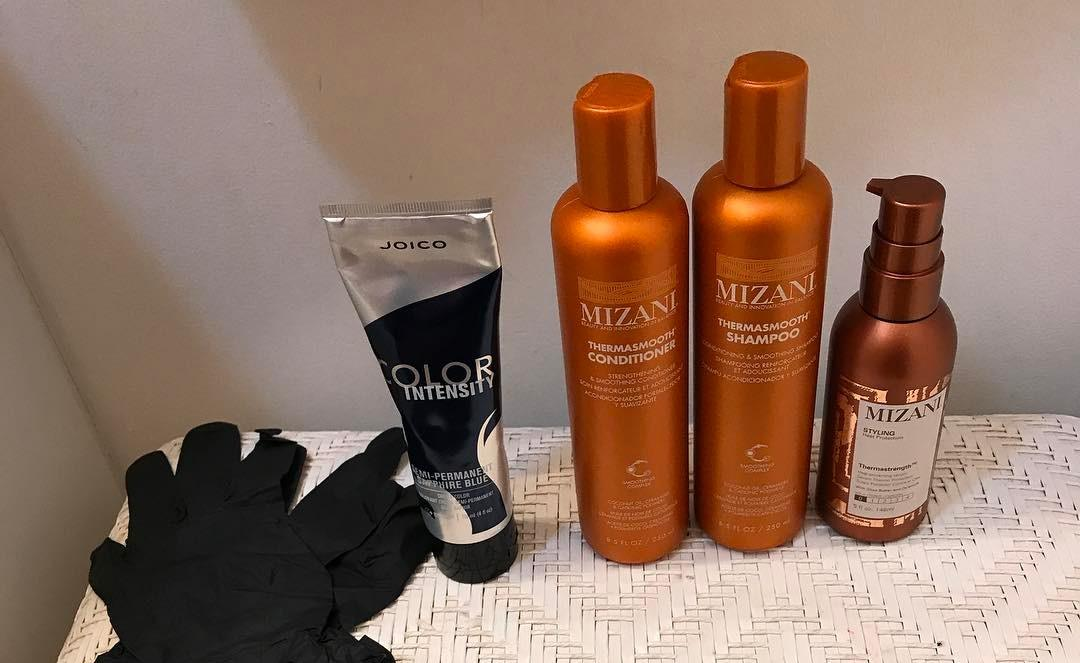 mizani hair care and heat protectant products