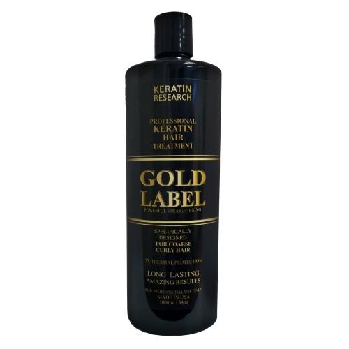 Gold Label Professional Results Brazilian Keratin Blowout Hair Treatment
